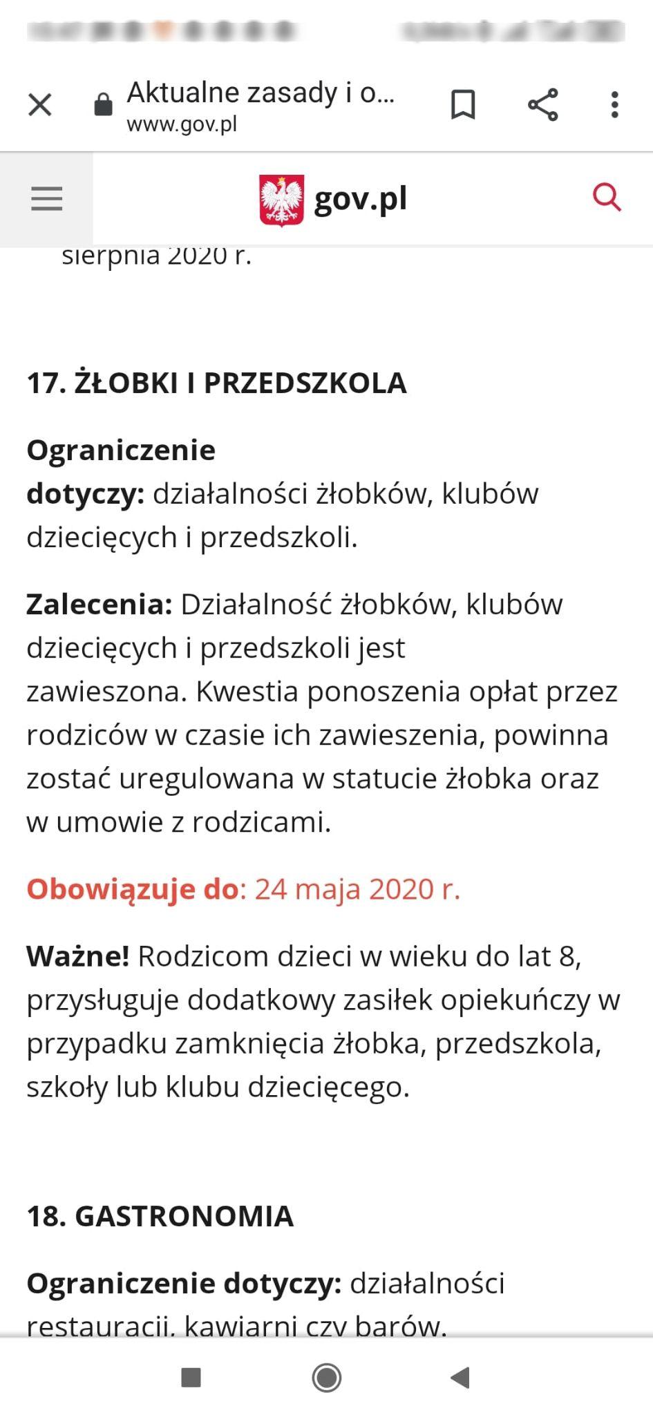 gov.pl - zrzut z ekranu - pierwotna informacja