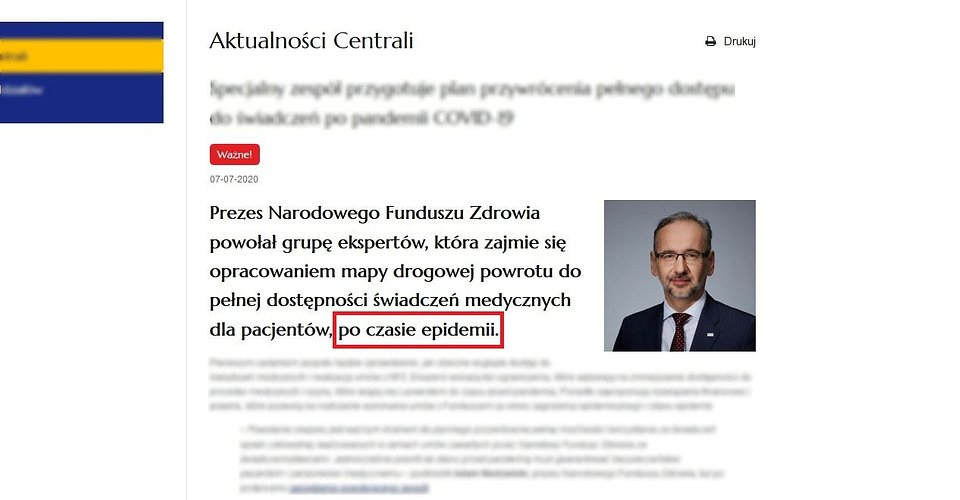 screenshot - nfz.gov.pl