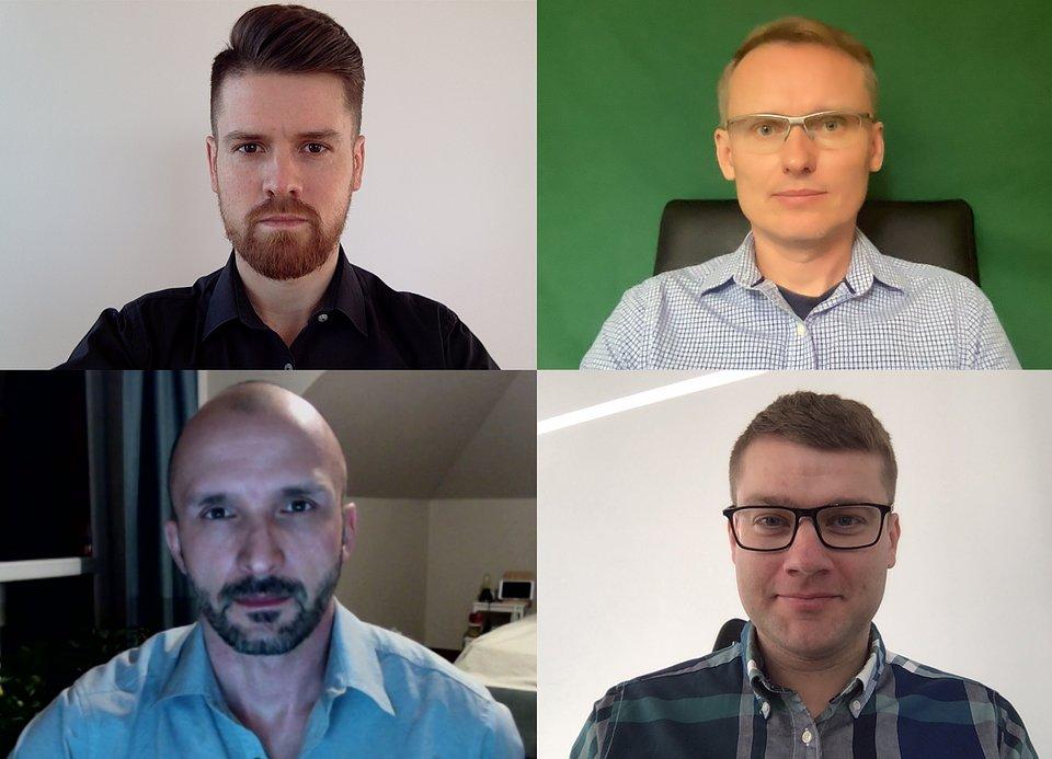 Od góry: Sebastian Maśka, Stefan Batory, Konrad Howard, Paweł Kantyka