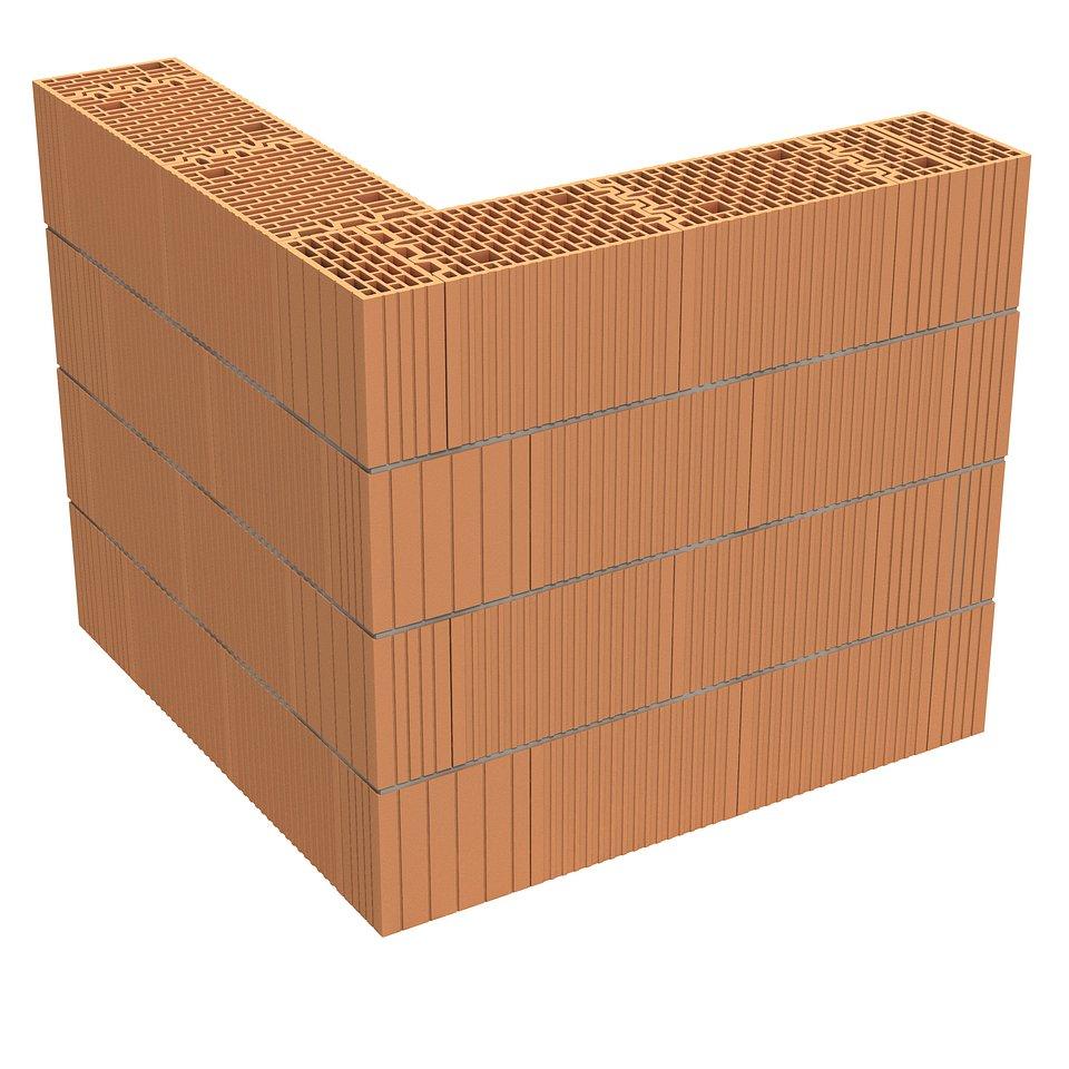 Narożnik, Porotherm 25 3x1/3 P+W; fot. materiały prasowe Wienerberger