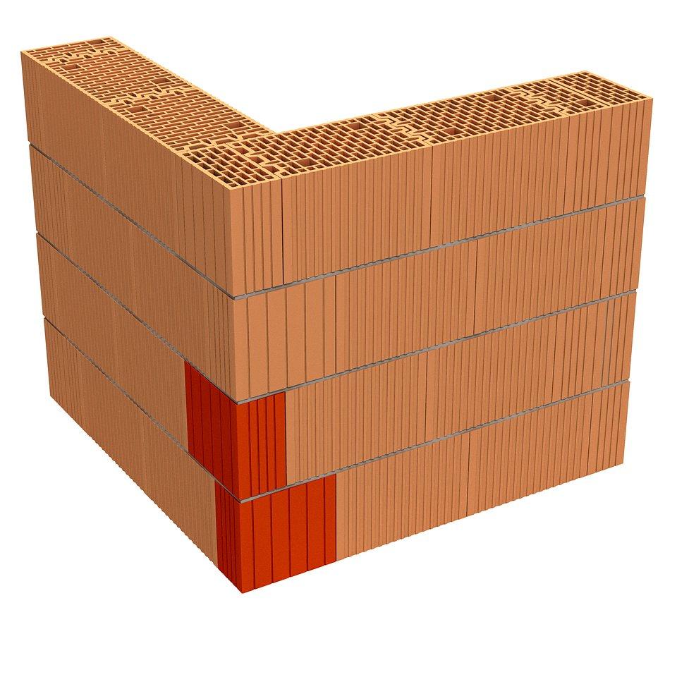 Narożnik, Porotherm 25 3x1/3 Dryfix, fot. materiały prasowe Wienerberger