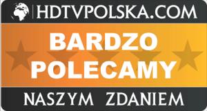 "Nagroda ""Bardzo Polecamy"" portalu HDTVPolska.com dla LG OLED 55CX"
