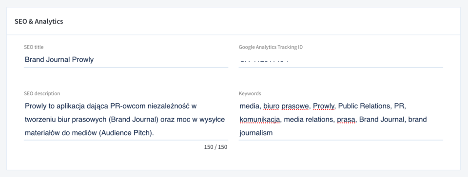 Stories -> Brand Journals -> Settings<br>