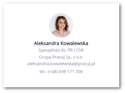 Wizytówka kontaktowa