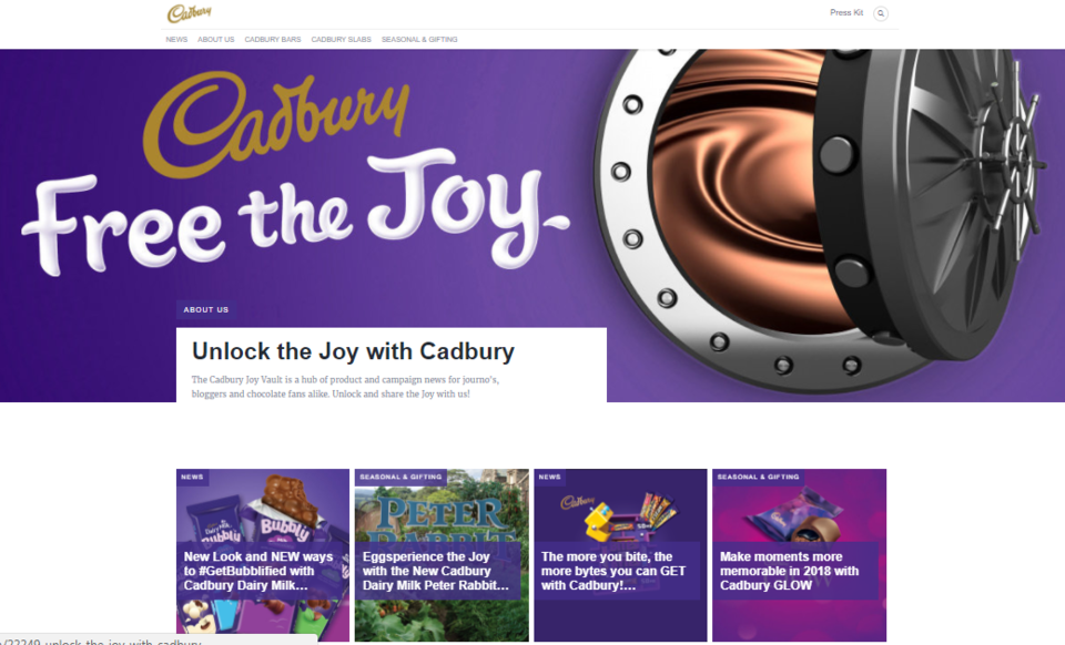 Brand Journal w wykonaniu Cadbury