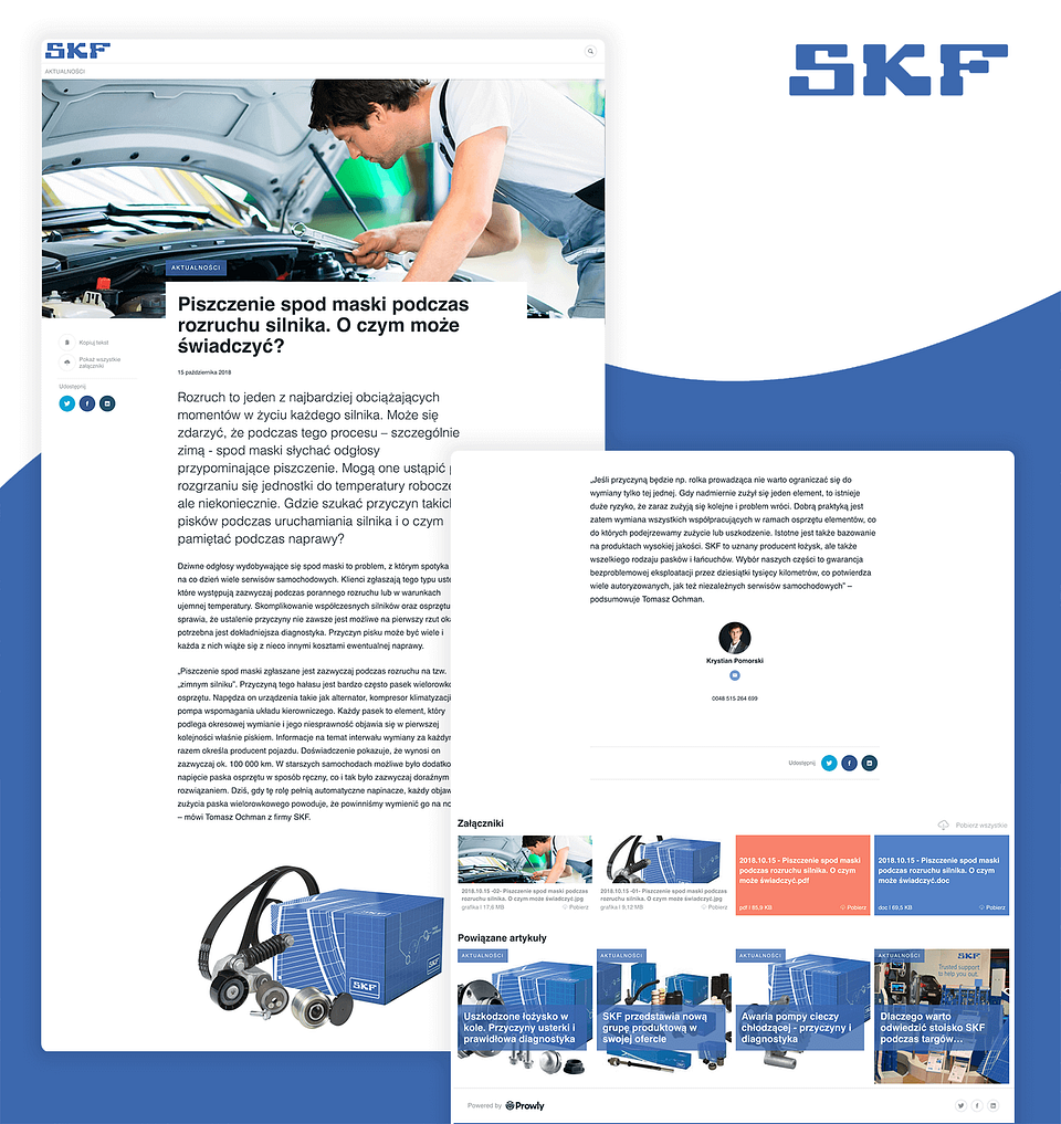 Blog post na BJ klienta Proautomotive, SKF