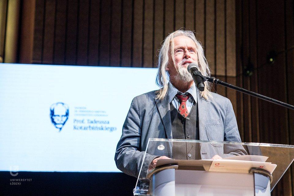 Prof. T. Sławek  (fot. M. Andrzejewski, UŁ)
