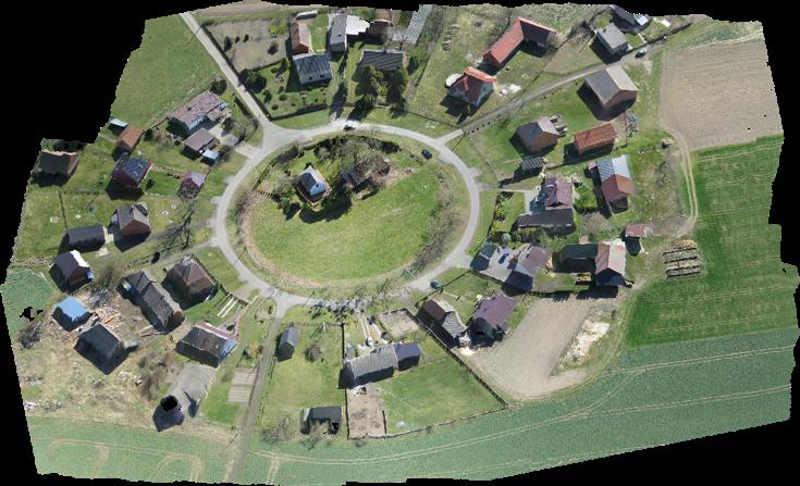 Model 3D przykładowej wsi
