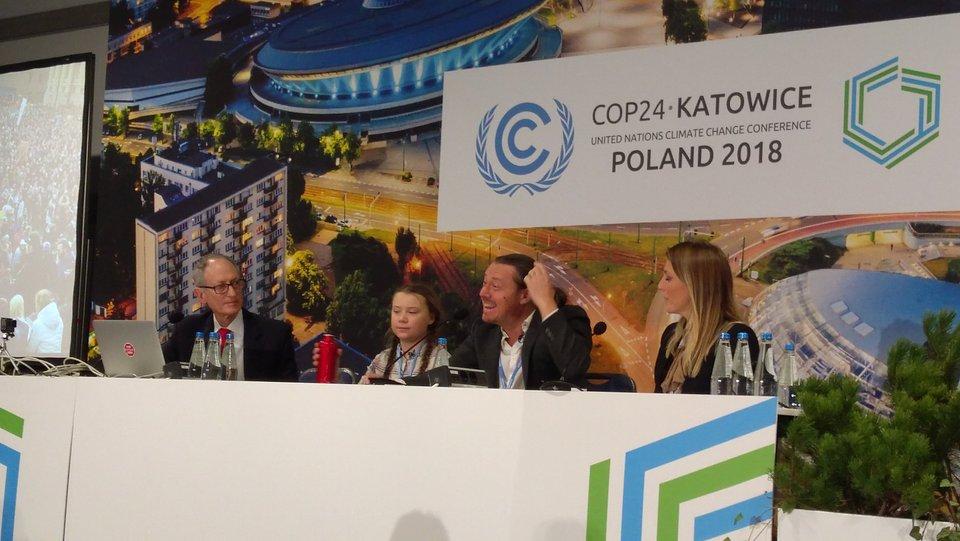 prof. Piotr Skubała na konferencji klimatycznej w Katowicach, archiwum prywatne