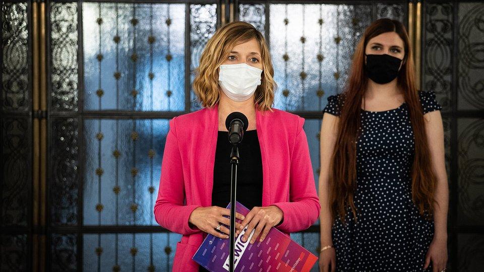 Na zdjęciu Magdalena Biejat, posłanka partii Razem (Lewica)