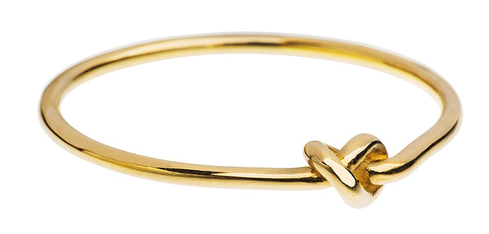 Złoty pierścionek z supełkiem, 250 zł