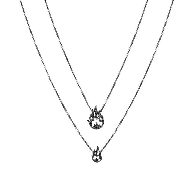 Naszyjnik z czarnego złota z diamentami, 6074 zł