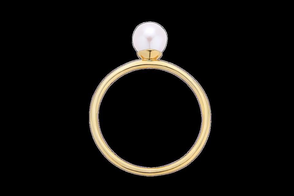Pierścionek złoty z perłą, 350 zł
