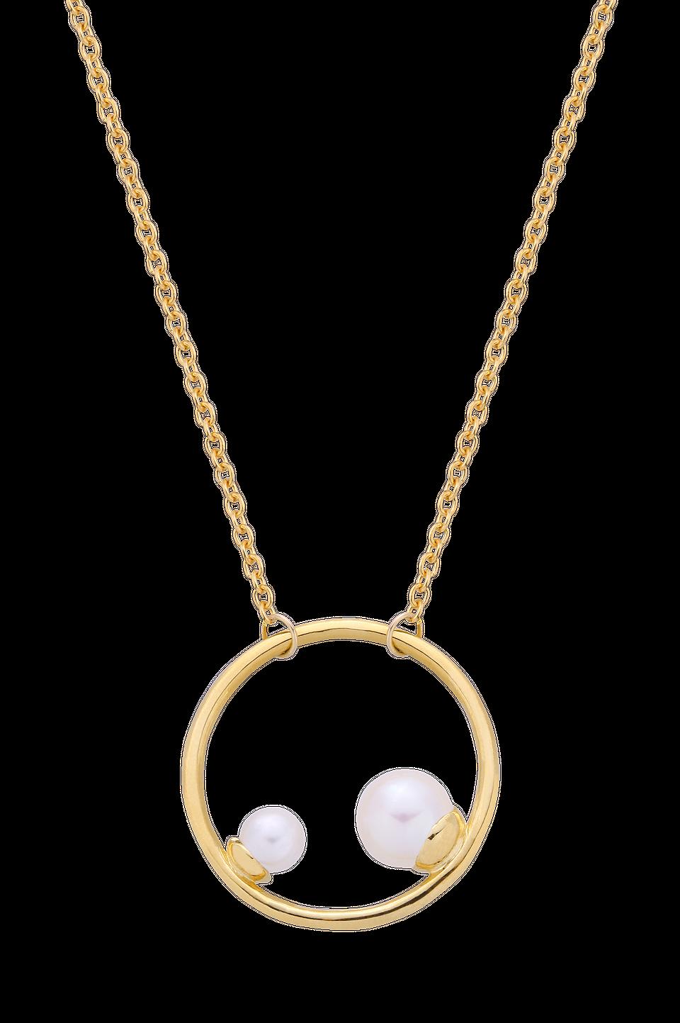 Naszyjnik z dwiema perłami w kole, 560 zł
