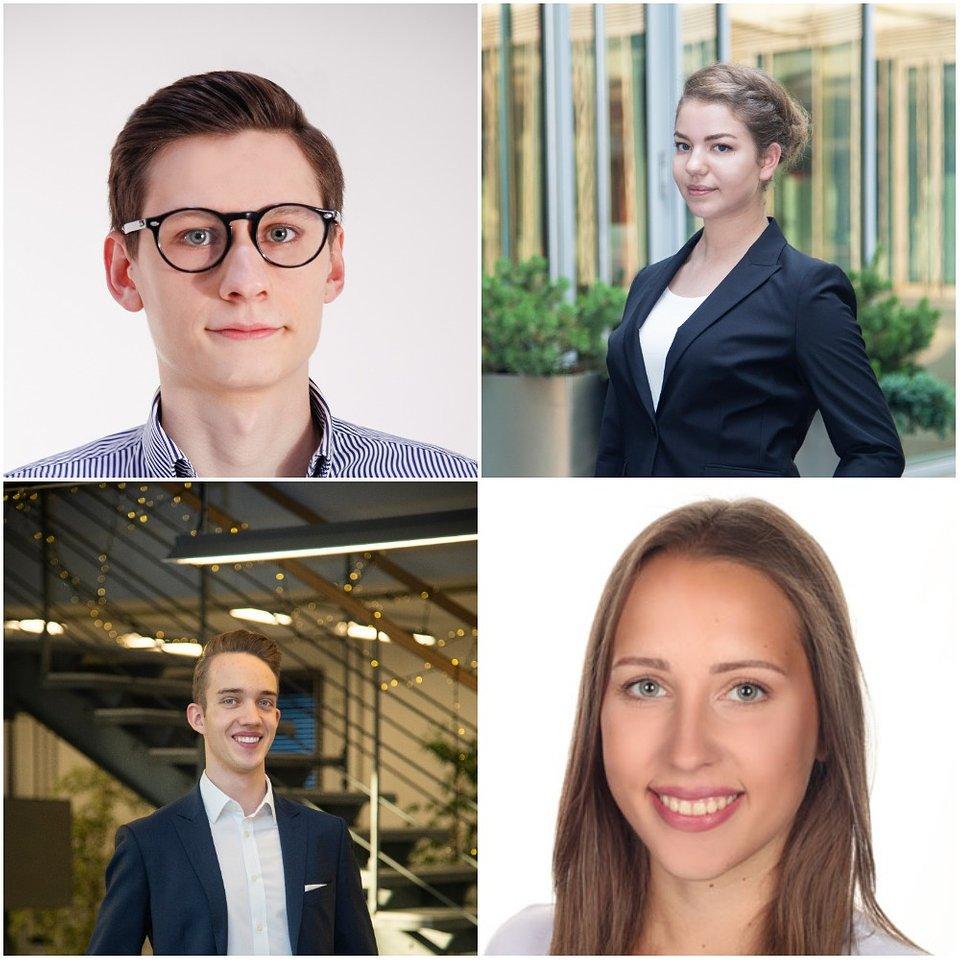 Wiktor Skowroński, Karolina Gronek,  Jakub Erdman iAgata Wiatrowska - zarządzający studenckim funduszem Freshman Capital.