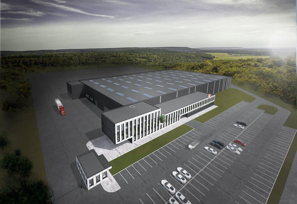 Wizualizacja najnowszej inwestycji PLAST-MET Automotive Systems. sp. z o.o. w Olkuszu