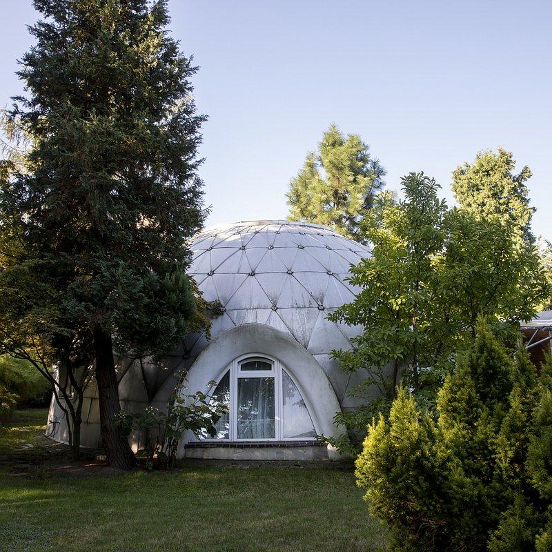 Dom-igloo, widok od strony ogrodu, Projekt Witold Lipiński,Fot. Anna Morgowicz.jpg