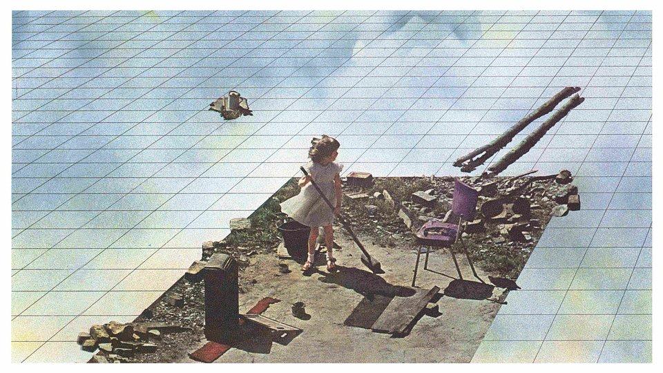 SUPERSTUDIO, Supersurface, kolaż 1972, fot. materiały prasowe Muzeum Architektury we Wrocławiu