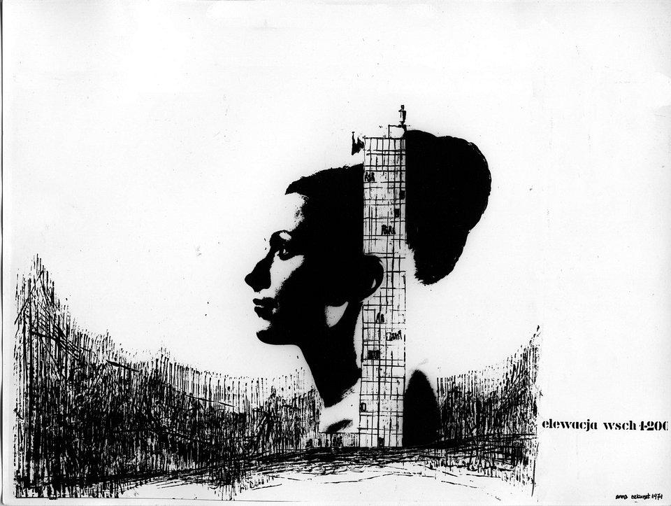 Anna Szkurat-Wojno Zespół hotelowo-usługowy w Górach Stołowych, 1974, fot. materiały prasowe Muzeum Architektury