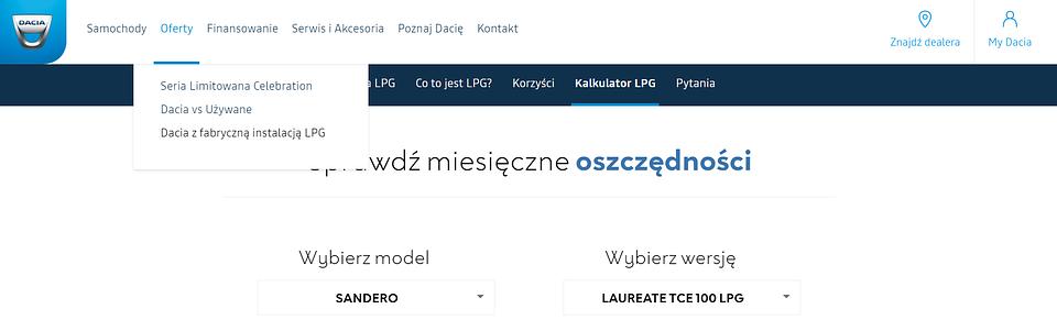 Źródło: Dacia.pl