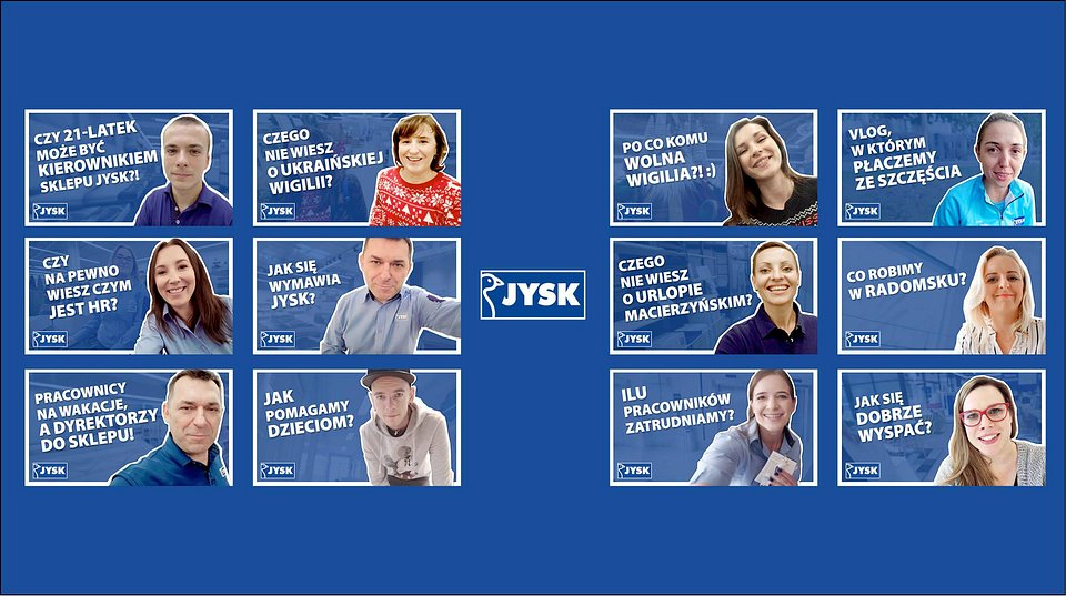 Bohaterowie  wszystkich  dotychczasowych odcinków #JYSKvlog