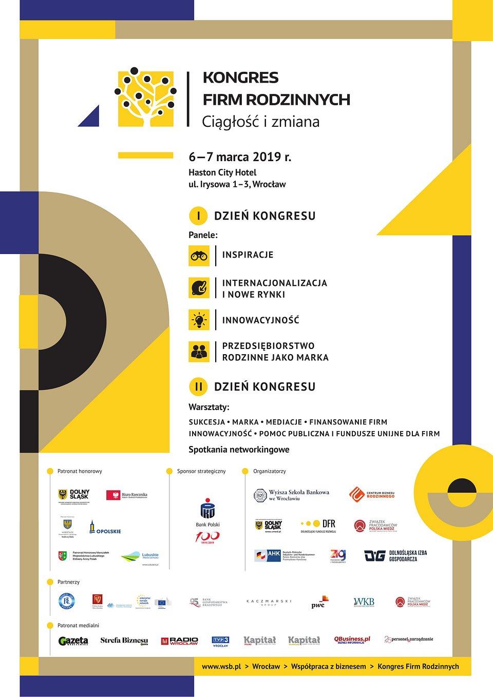 Plakat informacyjny - Kongres Firm Rodzinnych