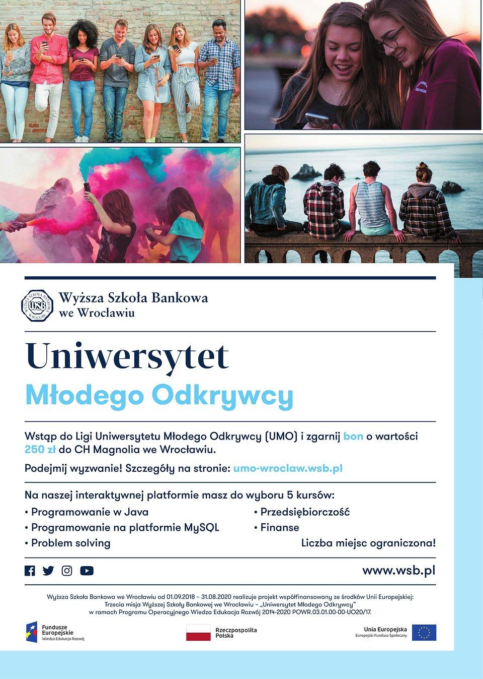Uniwersytet Młodego Odkrywcy - plakat.