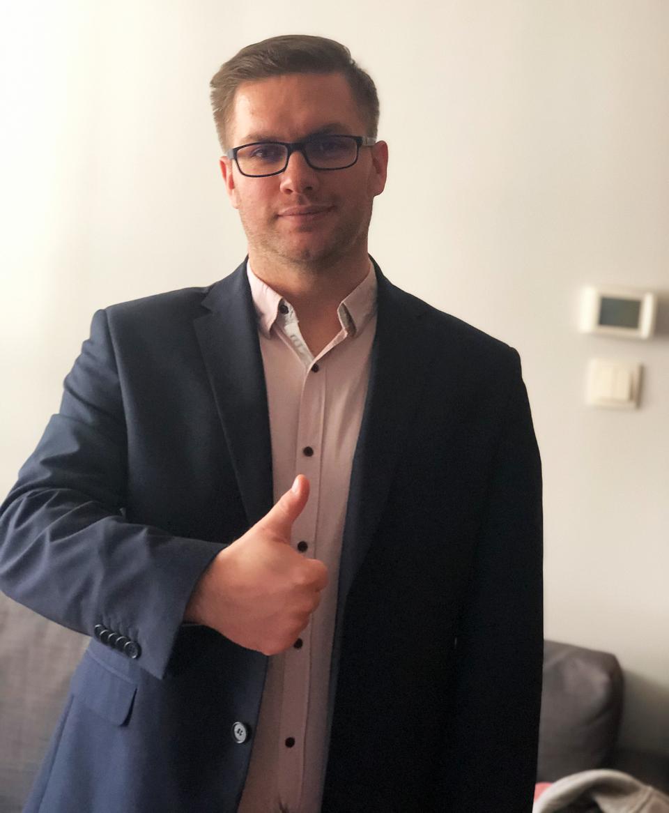 inż. Grzegorz Kowalik, absolwent kierunku Informatyka WSB w Gdyni