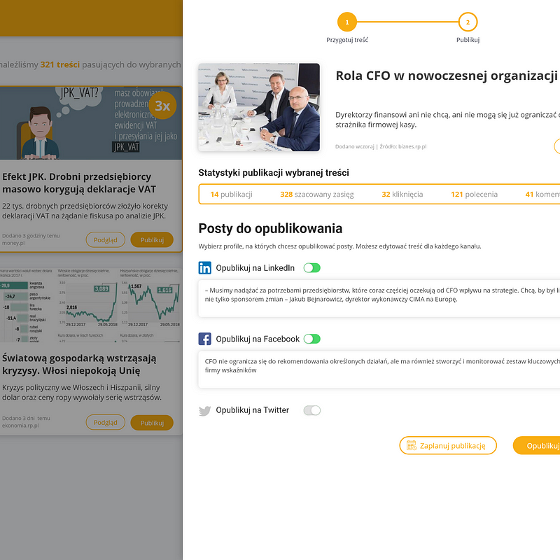 Sharebee social selling - content hub 1