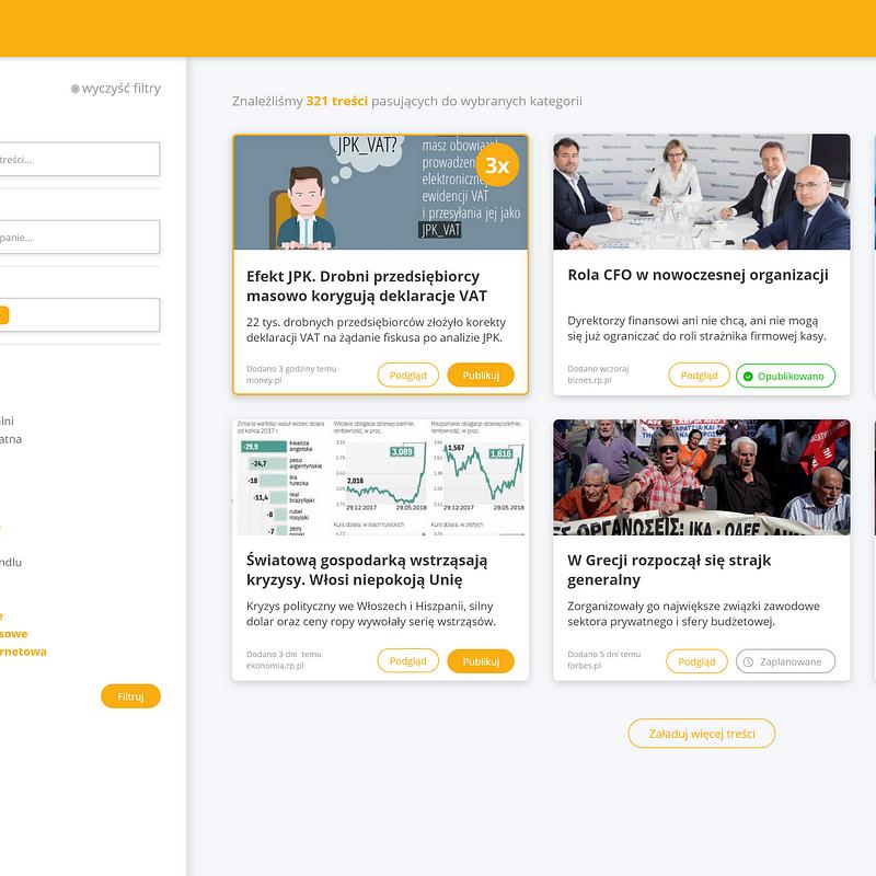 Sharebee social selling - content hub 2