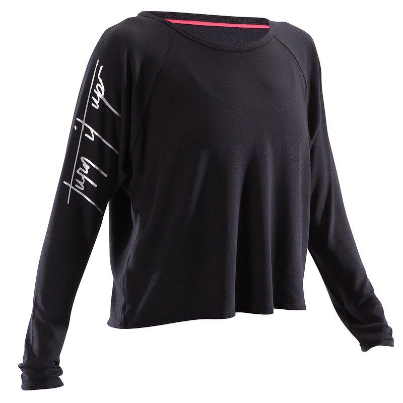 Decathlon, koszulka do tańca długi rękaw damska Domyos, 44,99 PLN.jpg