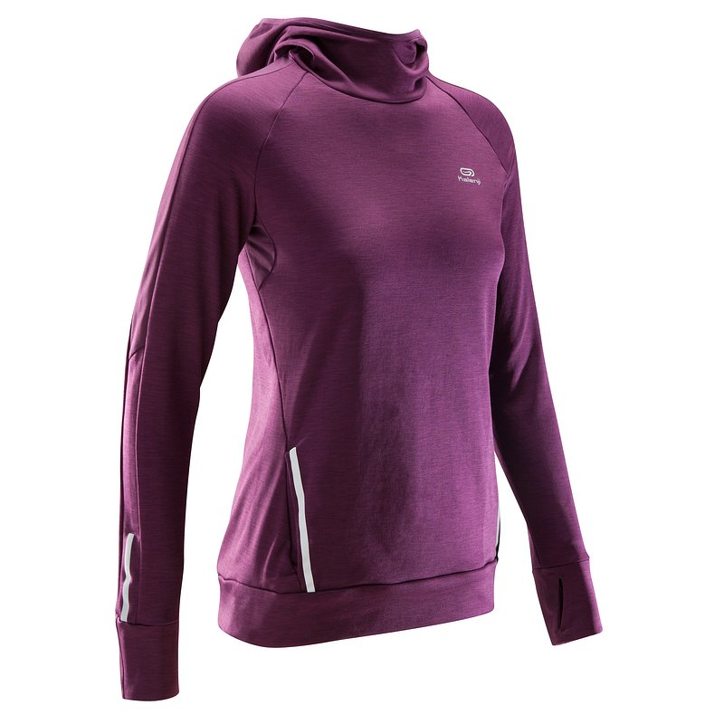 Decathlon, bluza do biegania run warm hood damska Kalenji, 69,99 PLN (2).jpg