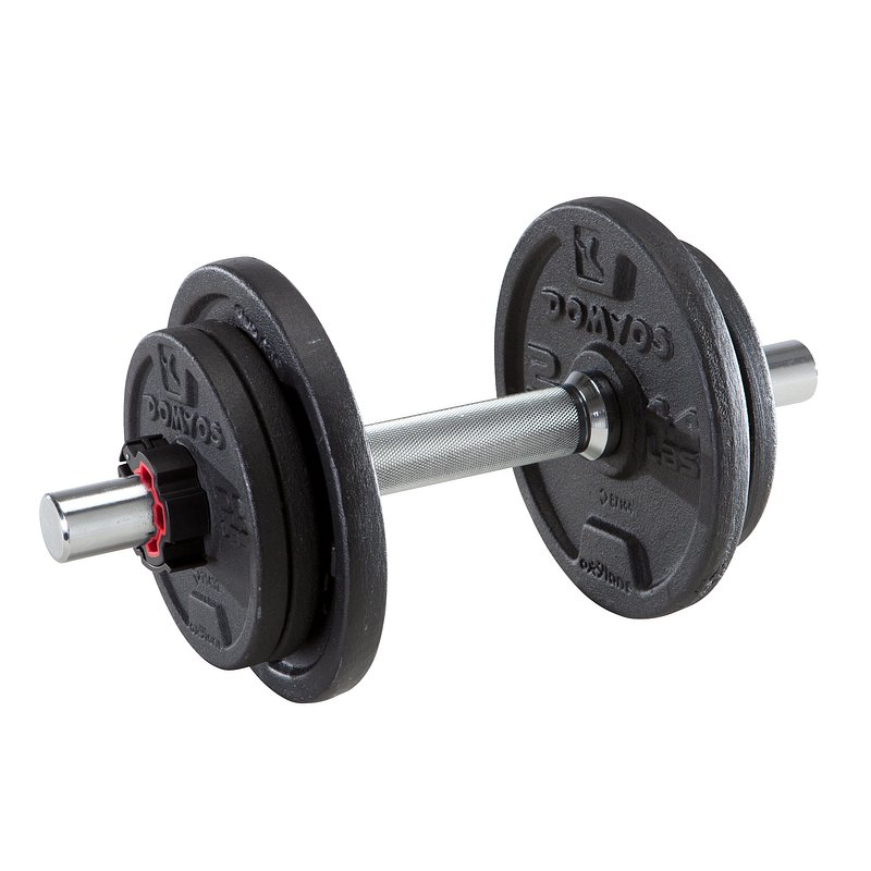Decathlon, zestaw hantli 10kg Domyos, 79,99 PLN.jpg