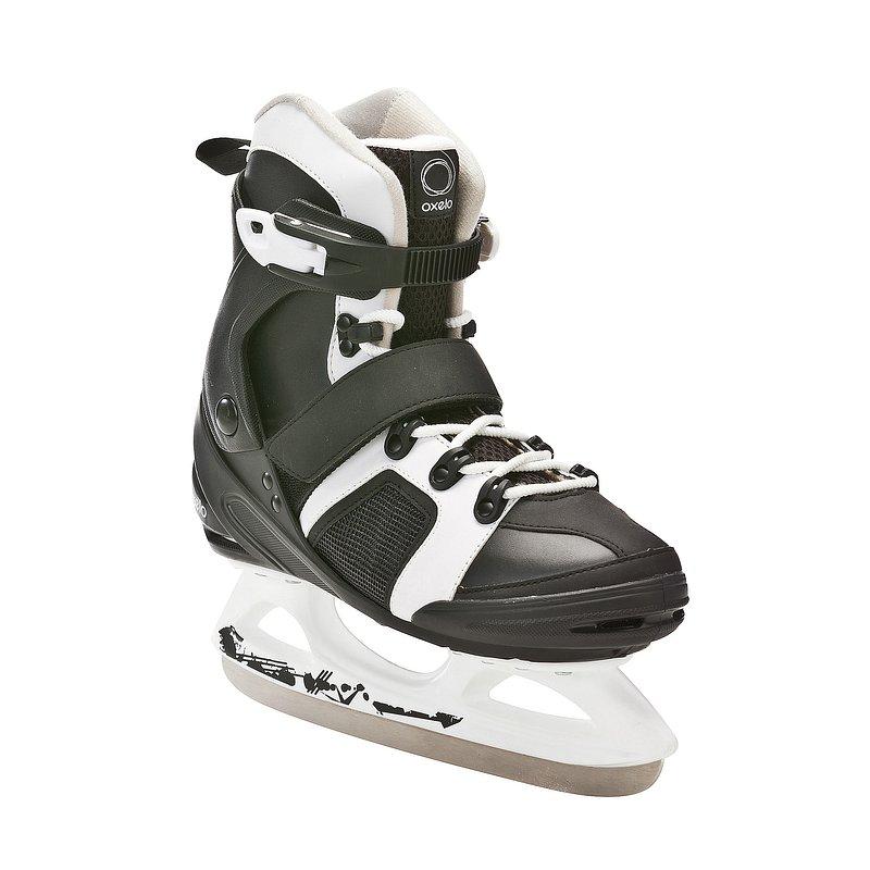 Decathlon, łyżwy fit 3 czarno-białe Oxelo, 159,99 PLN.jpg