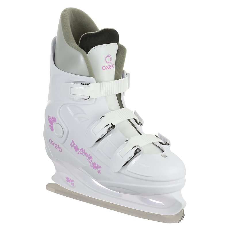 Decathlon, łyżwy fit1 damskie białe Oxelo, 99,99 PLN.jpg