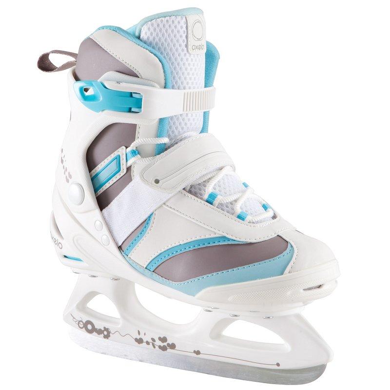 Decathlon, łyżwy fit 3 biało-niebieskie Oxelo, 159,99 PLN.jpg