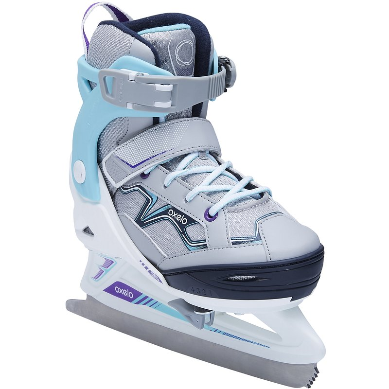 Decathlon, łyżwy fit 100 szaro-turkusowe Oxelo, 119,99 PLN.jpg