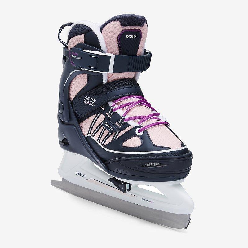 Decathlon, łyżwy fit500 niebiesko-różowe Oxelo, 199,99 PLN.jpg