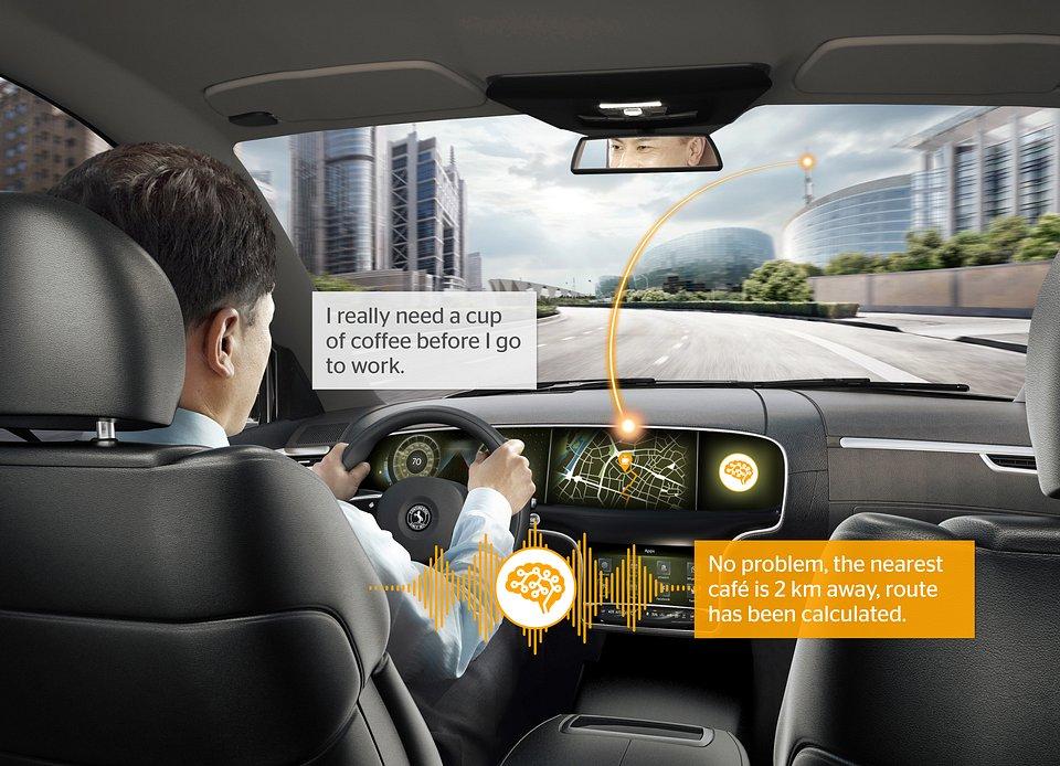 Dzięki systemowi inteligentnego asystenta głosowego samochód stanie się pomocnym towarzyszem podróży.
