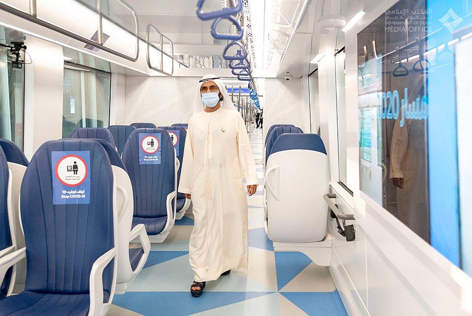 Wagon Metropolis produkcji Alstom w metrze w Dubaju