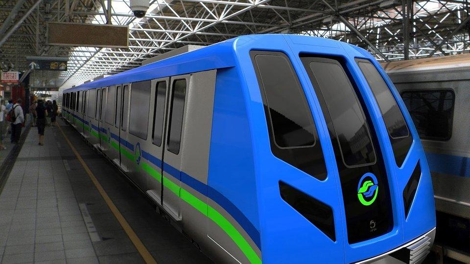 Pociąg Alstom Metropolis w Tajpej