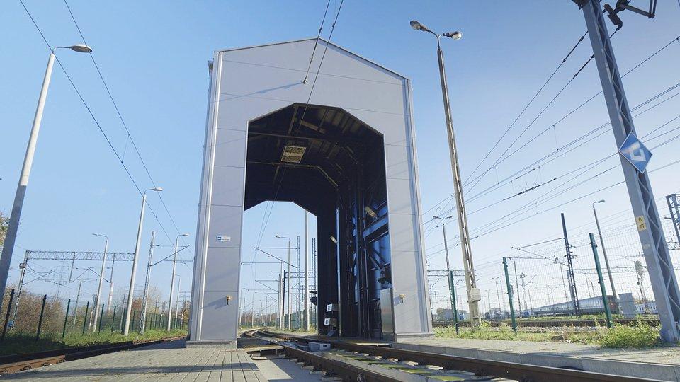 TrainScanner Alstom w warszawskim centrum serwisowym Pendolino.