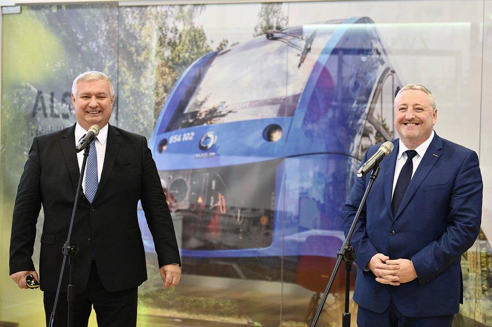Sławomir Nalewajka, Dyrektor Zarządzający Alstom w Polsce, na Ukrainie i w Krajach Bałtyckich, Artur Fryczkowski, Dyrektor Sprzedaży i Rozwoju biznesu Alstom w Polsce, na Ukrainie i w Krajach Bałtyckich