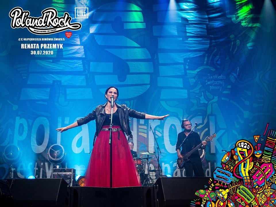 Renata Przemyk na scenie nocnego ASP. fot Lucyna Lewandowska