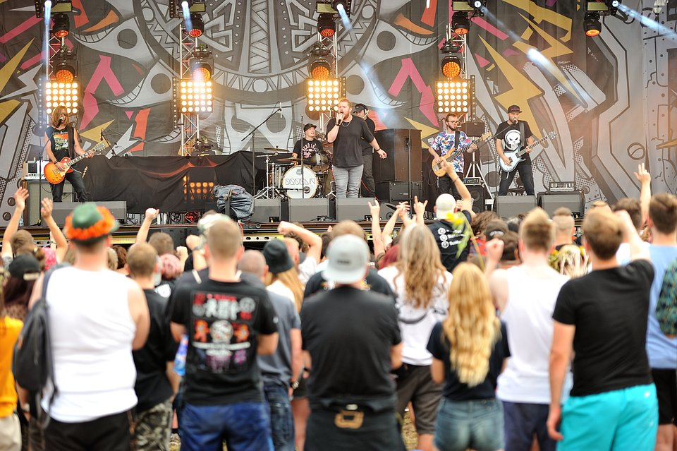 Koncert zespołu Bruklin na 25. Pol'and'Rock Festival, fot. Paweł Krupka