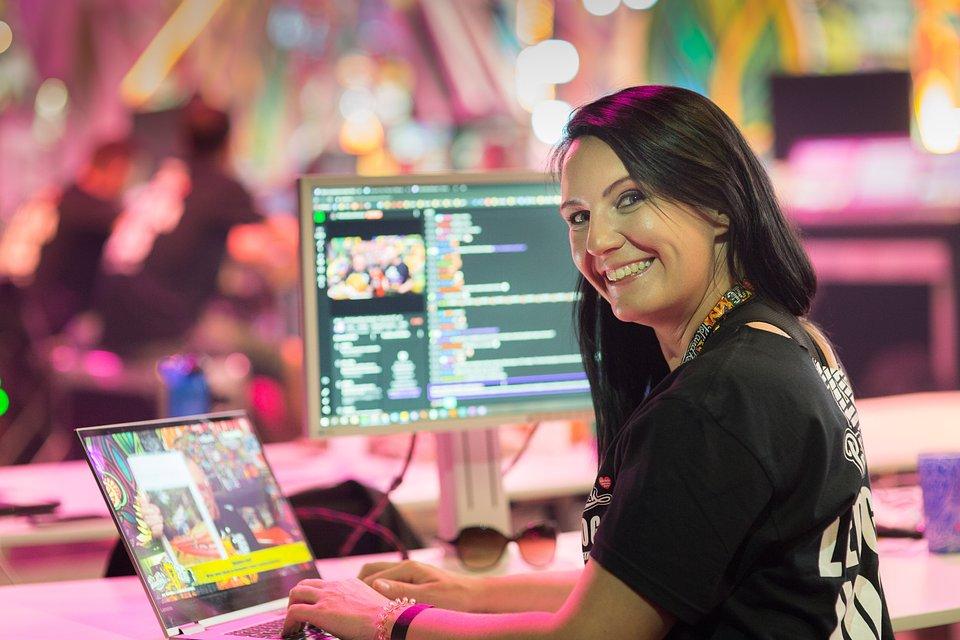 Katasha z zespołu Twitcha podczas Najpiękniejszej Domówki Świata, fot. Lucyna Lewandowska