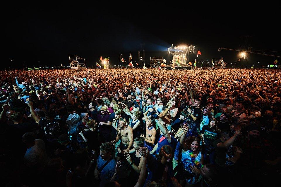 Publiczność 25. Pol'and'Rock Festival w Kostrzynie nad Odrą, fot. Szymon Aksienionek