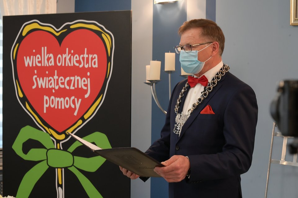 Wójt Tarnowa Podgórnego, źródło Sztab WOŚP Tarnowo Podgórne