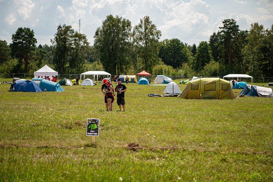 Pole namiotowe na 27. Pol'and'Rock Festvial, fot. Paweł Krupka
