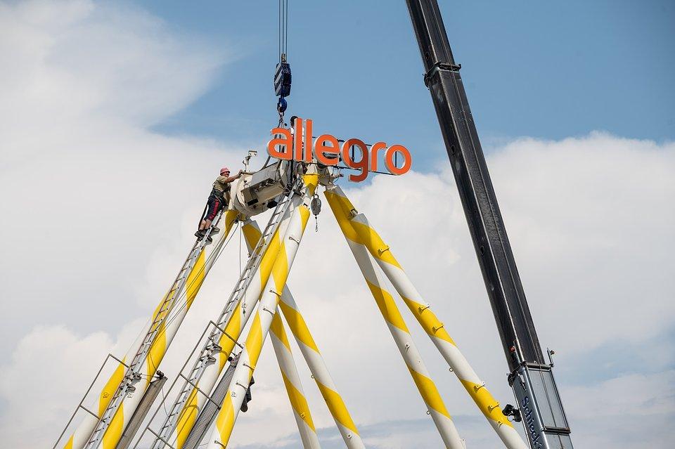 Budowa Wielkiego Koła Allegro, fot. Dominik Malik